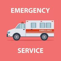 serviço de emergência de ambulância vetor
