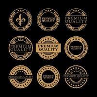 distintivo de qualidade premium de ouro vetor