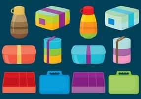 Caixas de almoço plásticas vetor