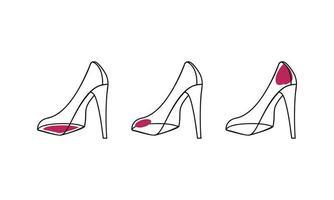 contorno de almofada de sapatos de mulher vetor