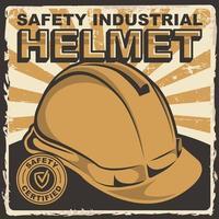 sinalização de capacete industrial de segurança vetor