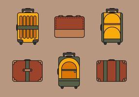 Conjunto de ilustração do saco de vetores
