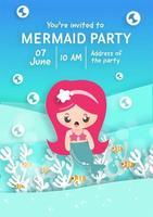 cartão de convite de festa de aniversário vetor
