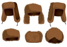 Vetores de chapéu de pele