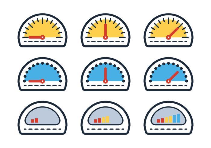 Indicatore del carburante di contorno vettore
