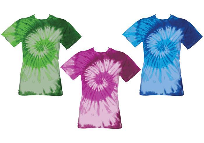 Camicie Tye Dye vettore