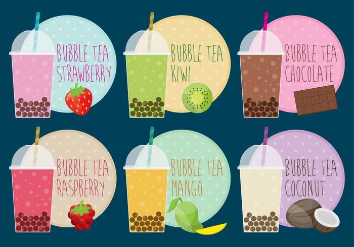 bubble tea vettore