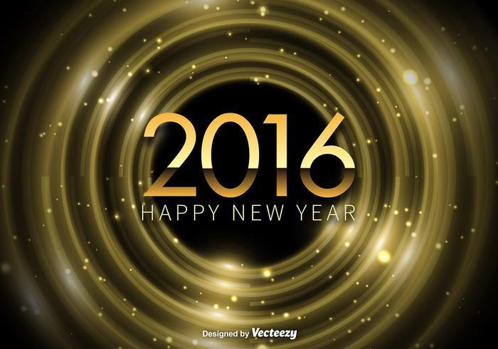 Felice anno nuovo sfondo 2016 vettore