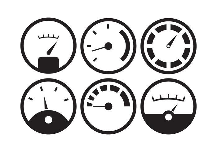 Vector Set di indicatore del carburante