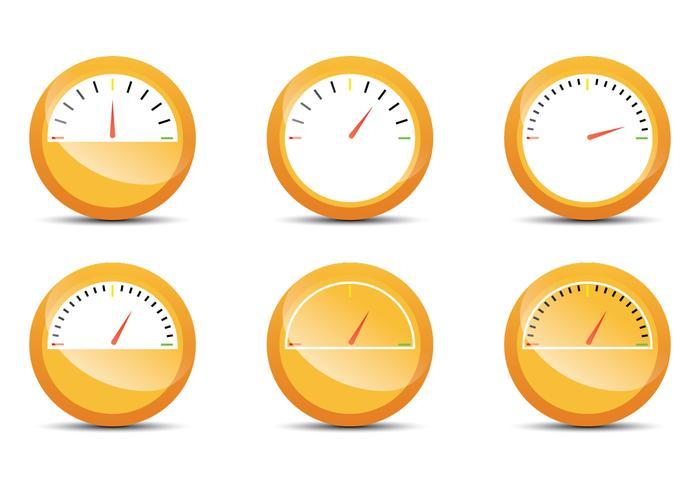 Indicatore del carburante arancione vettore