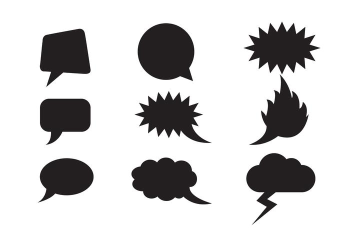 Vettore di forme di nuvole gratis discorso