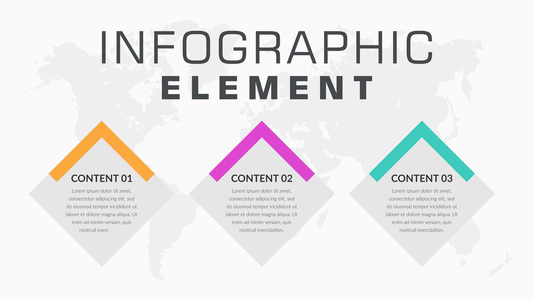 infografica di affari a forma di diamante vettore