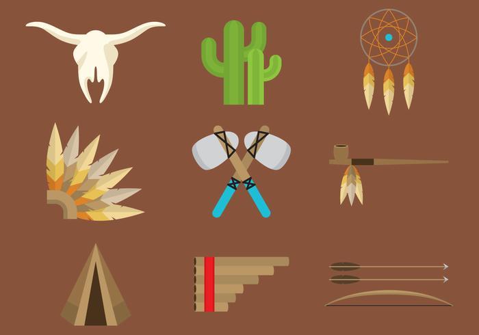 Icone indiane del Nord America vettore