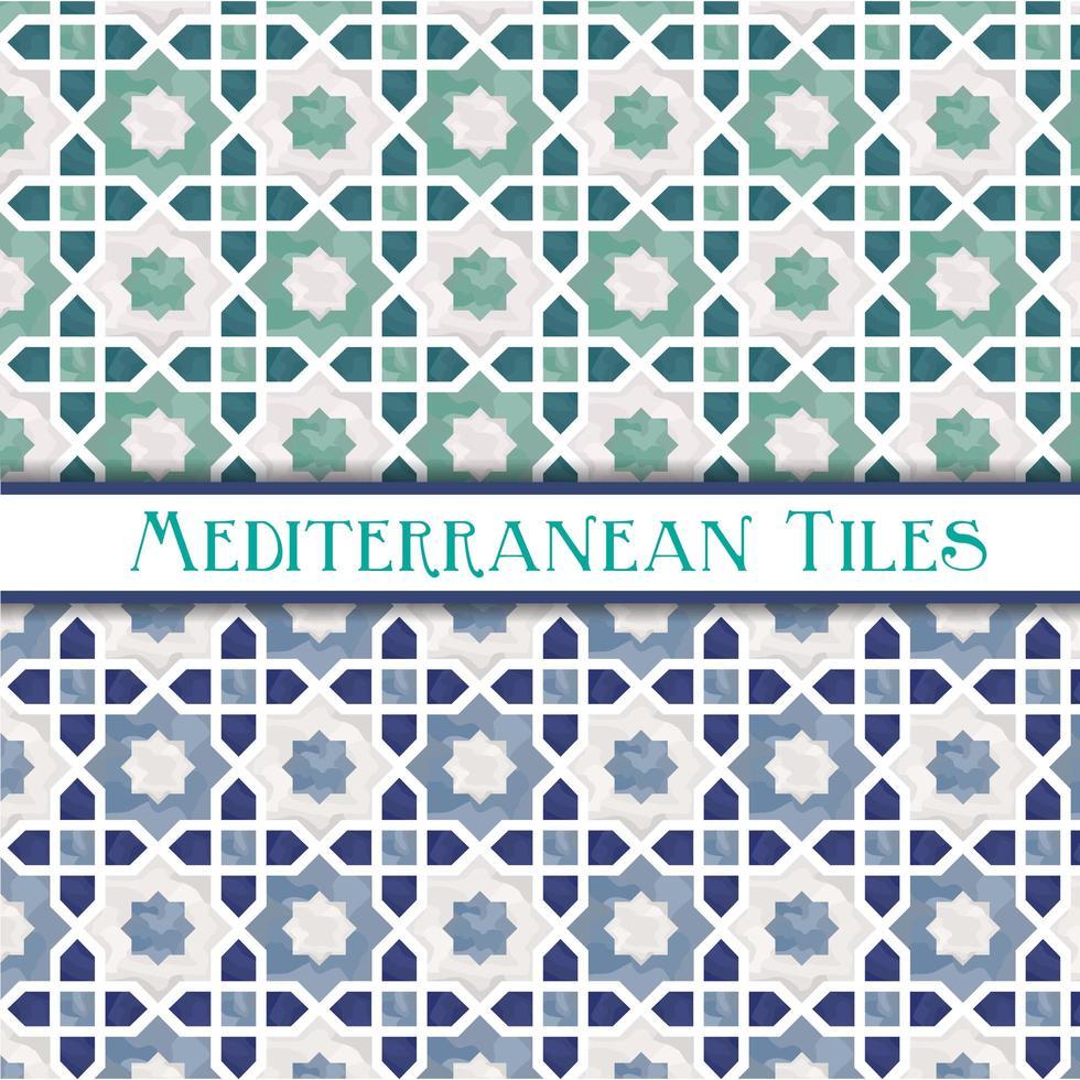 motivi geometrici stella mediterranea vettore