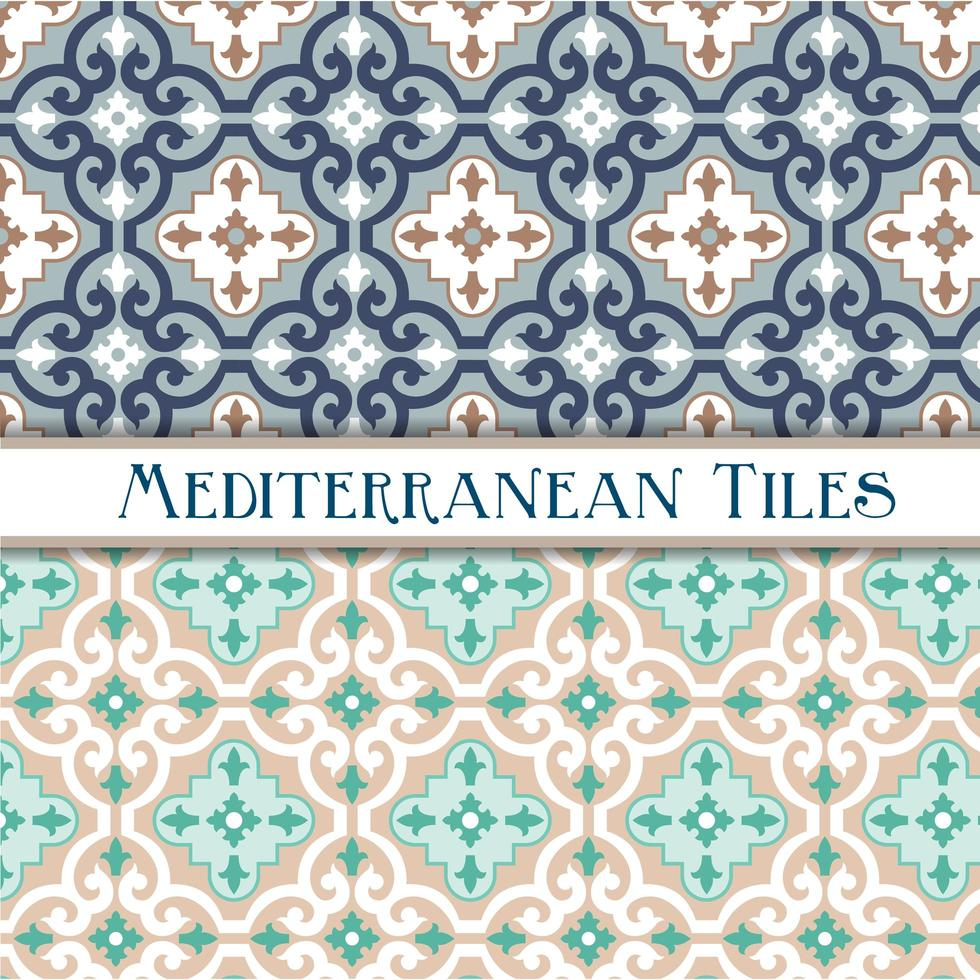 motivi mediterranei geometrici vettore