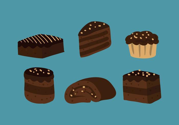 vettore di brownie
