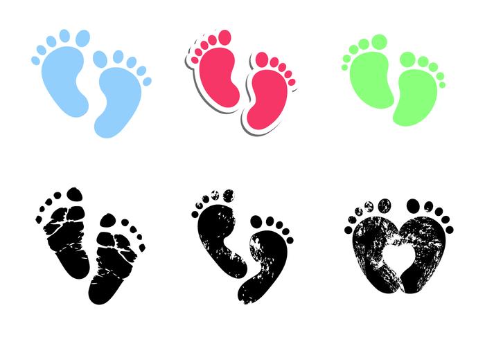 Vettore di impronte di bambino