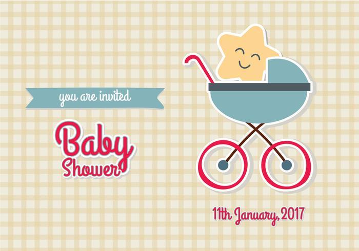 Illustrazione EPS10 di vettore dell'invito della doccia di bambino