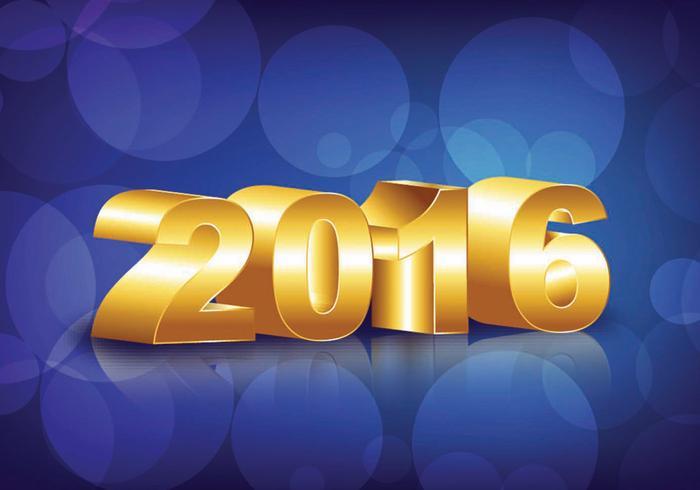 Felice Anno Nuovo 2016 vettore