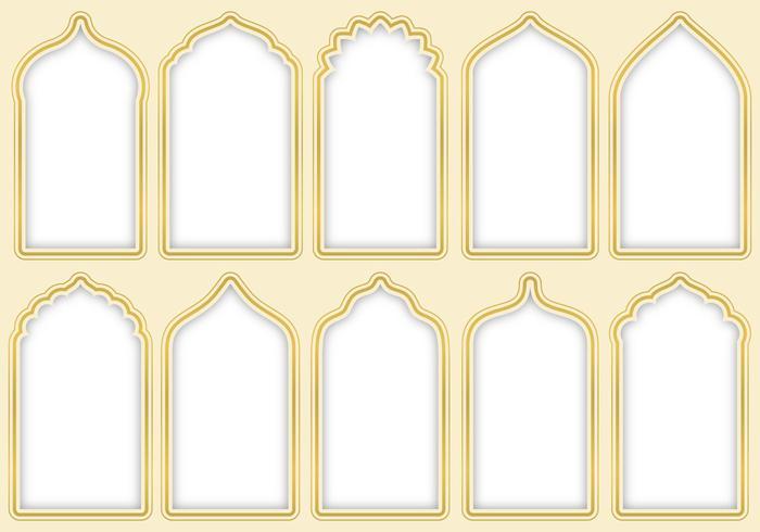 Porte arabe vettore
