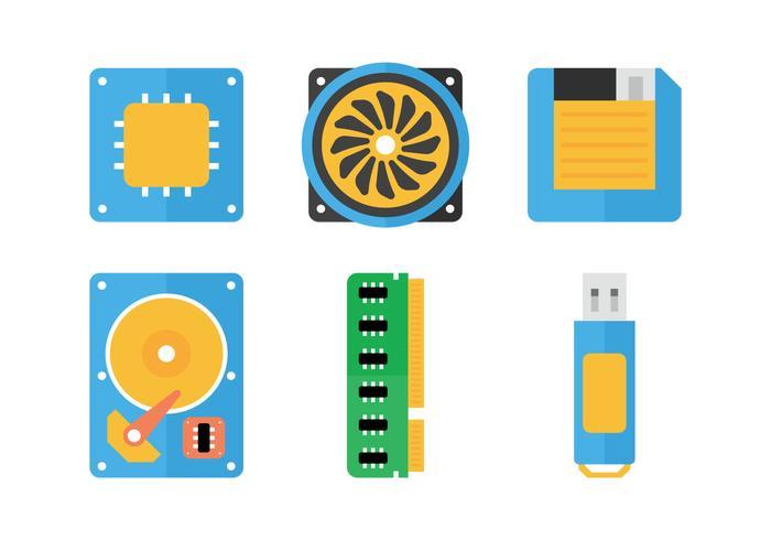 Icone piatte della CPU vettore