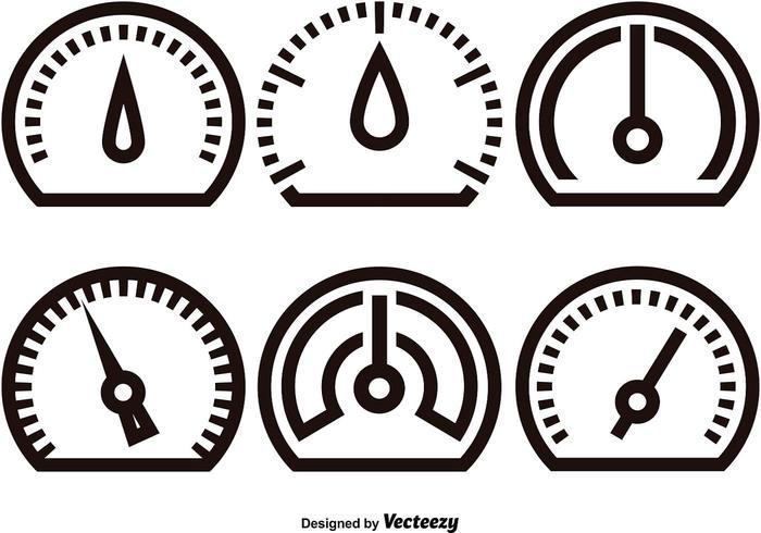 Icone lineari del tachimetro vettore