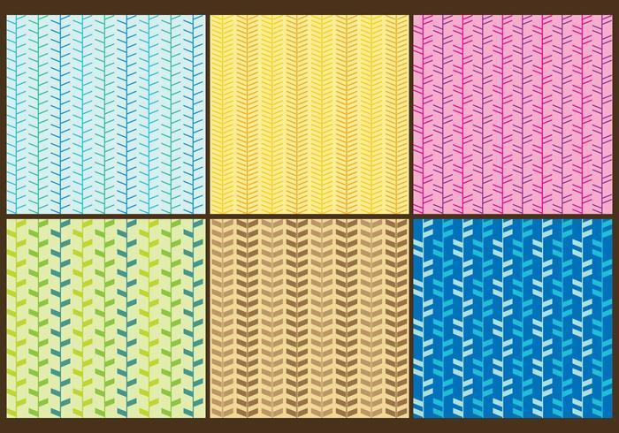 Vettori colorati del reticolo a spina di pesce