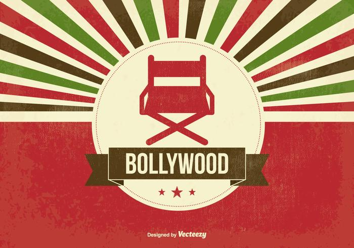 Retro illustrazione di Bollywood vettore