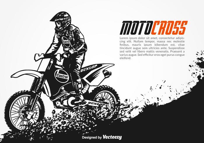 Sfondo di motocross vettoriale