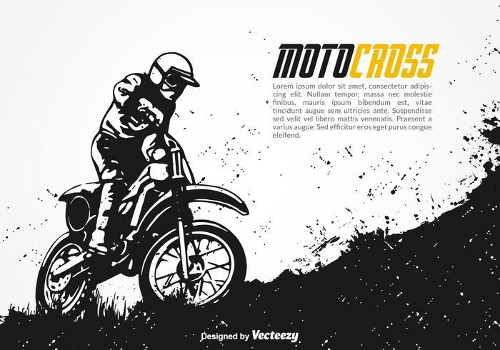 Fondo di vettore di motocross