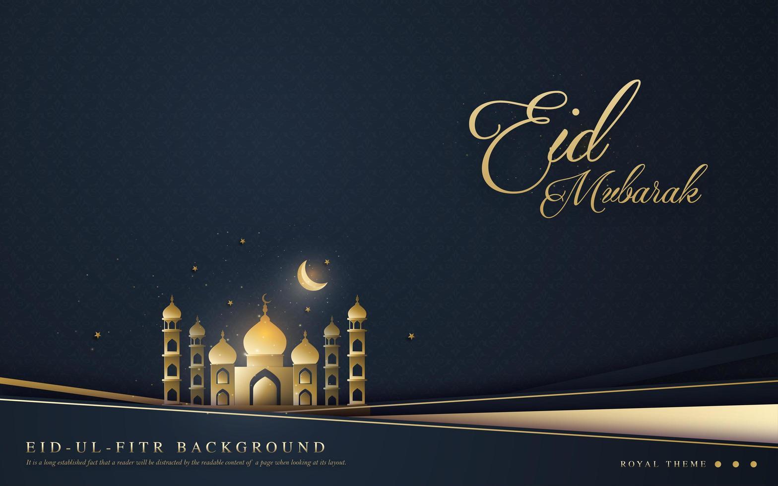 sfondo per ramadan eid ul fitr vettore