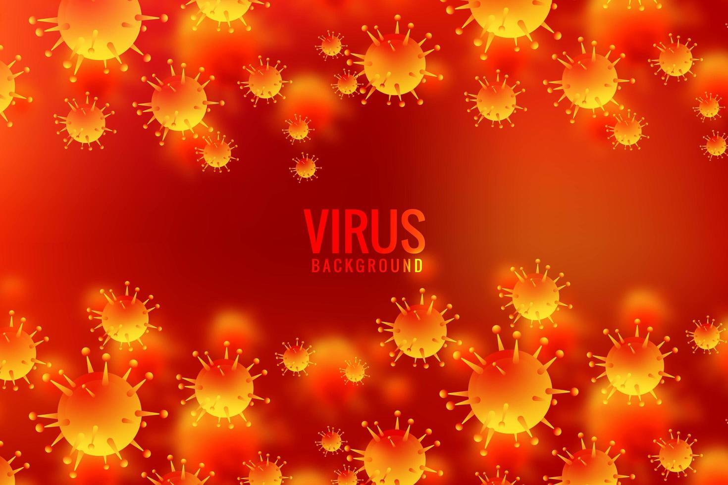 sfondo cellulare virus giallo arancione vettore