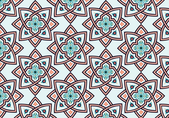 Star Marocchino Pattern Background vettore