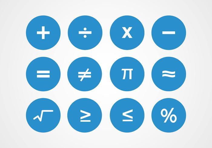 Vettori di simboli di matematica