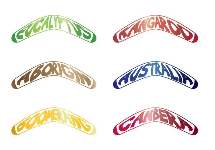 Tipografia Boomerang vettore