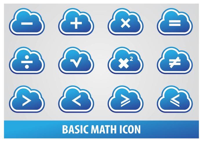 Icona matematica di base vettore