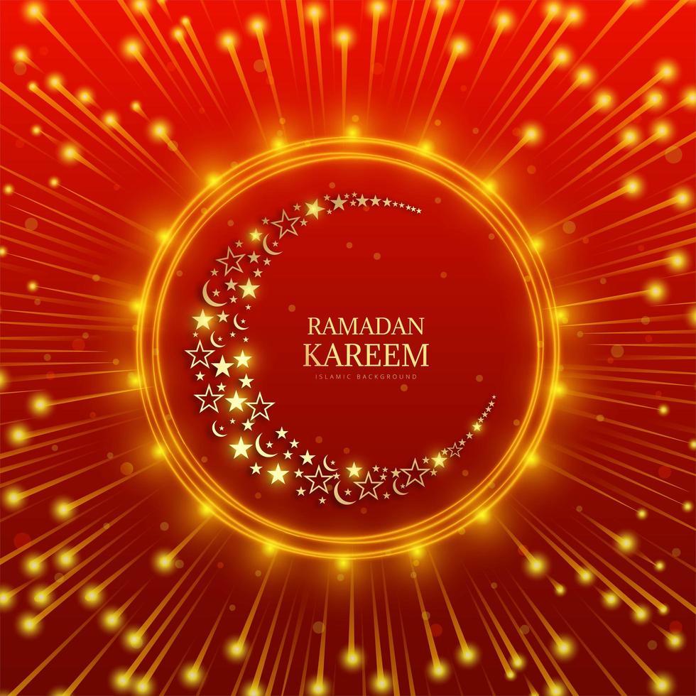 luna di Ramadan Kareem fatta di stelle e mezzaluna vettore