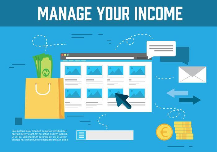 Illustrazione vettoriale di reddito gratis
