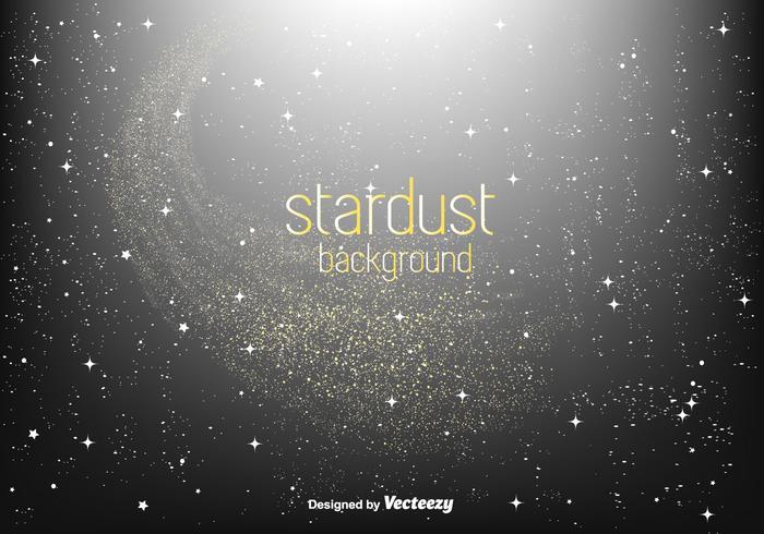 Sfondo di stelle dorate stardust vettore