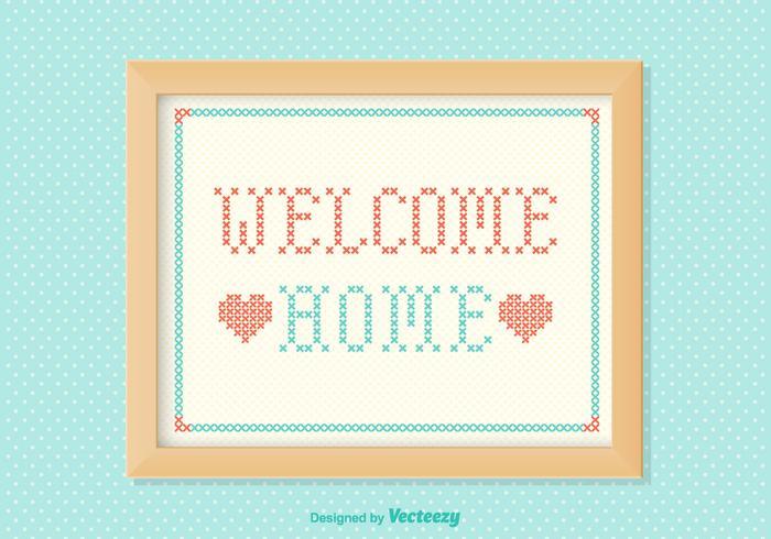 Welcome Home Ricamo vettoriale