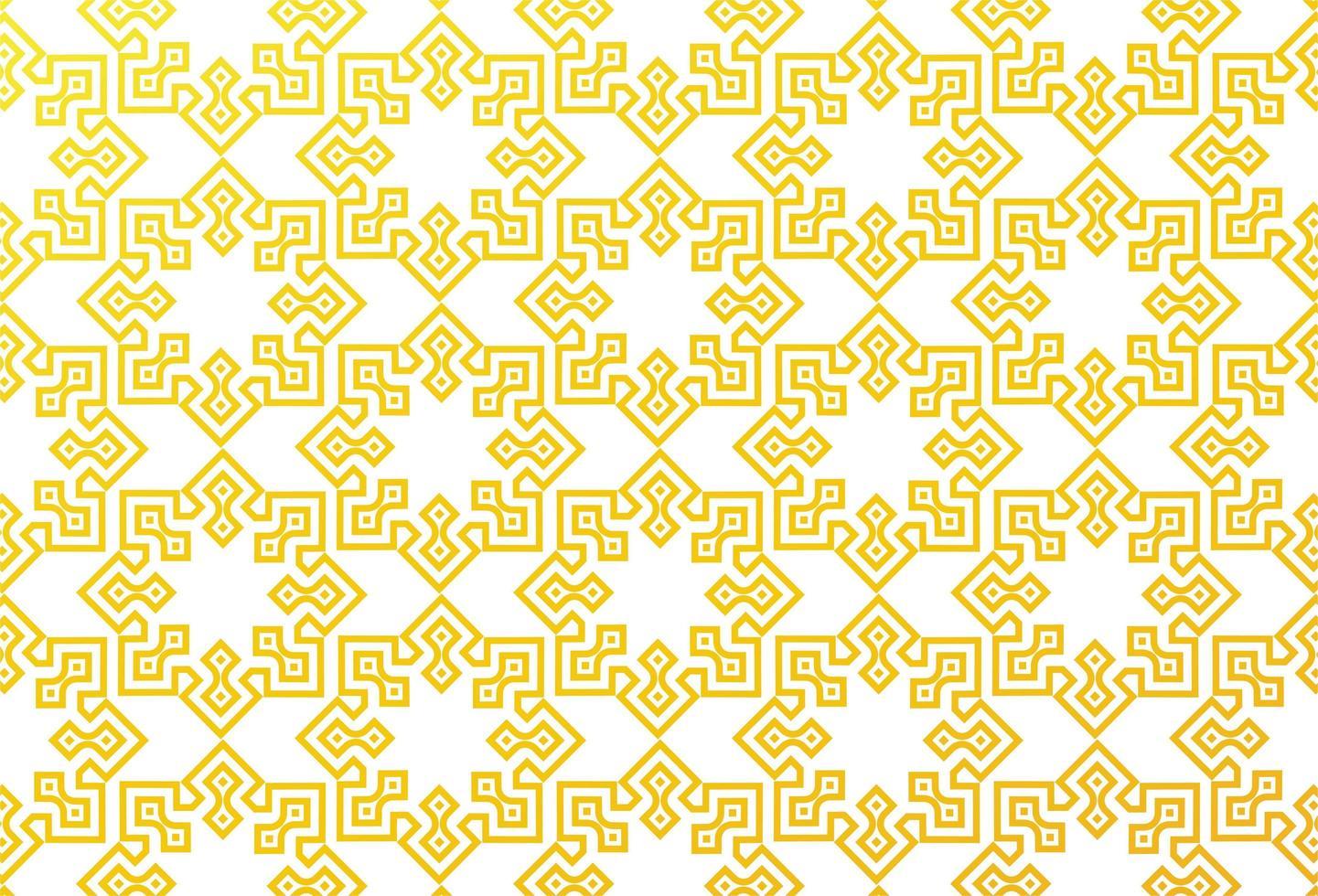 motivo islamico geometrico giallo vettore