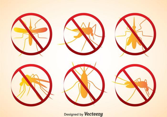 Icone di peste della zanzara vettore