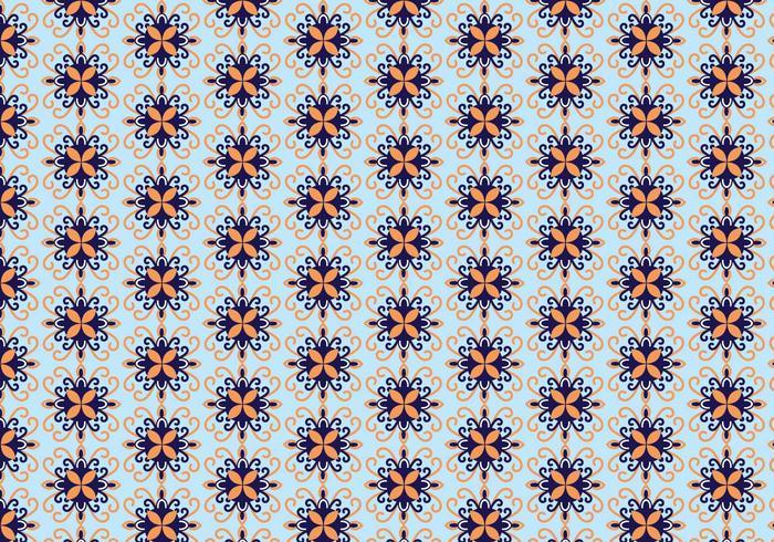 Vettore del reticolo floreale del mosaico
