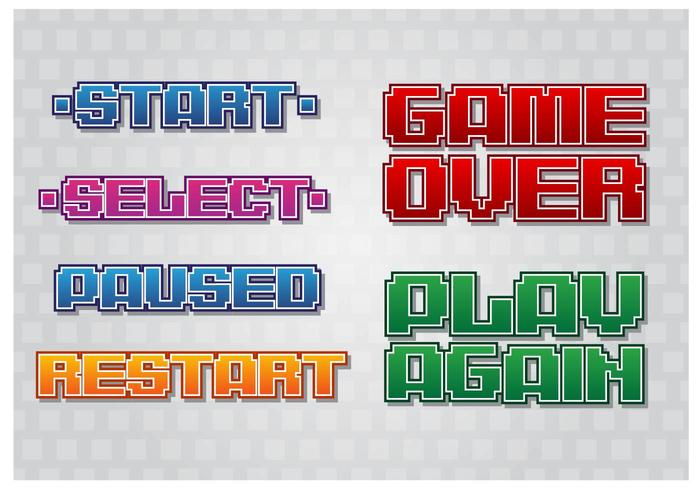Retro menu di gioco vettore