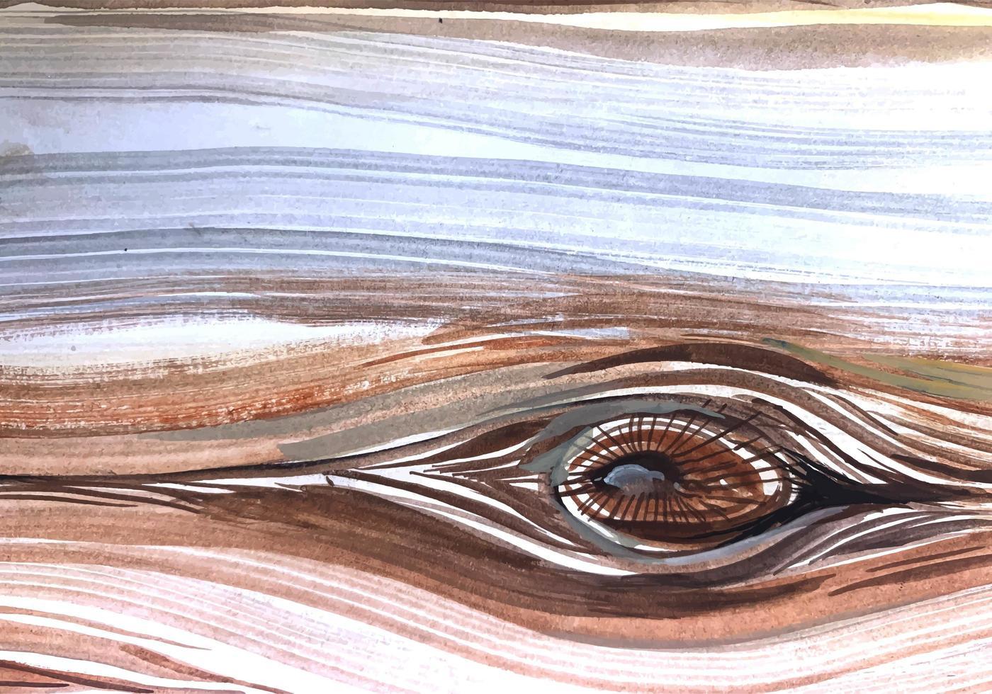 struttura di legno dettagliata del nodo dell'acquerello vettore