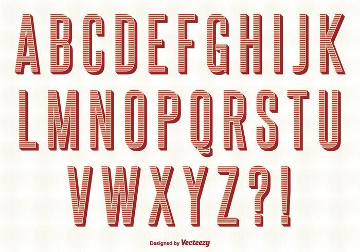 Set di alfabeto vettoriale retrò