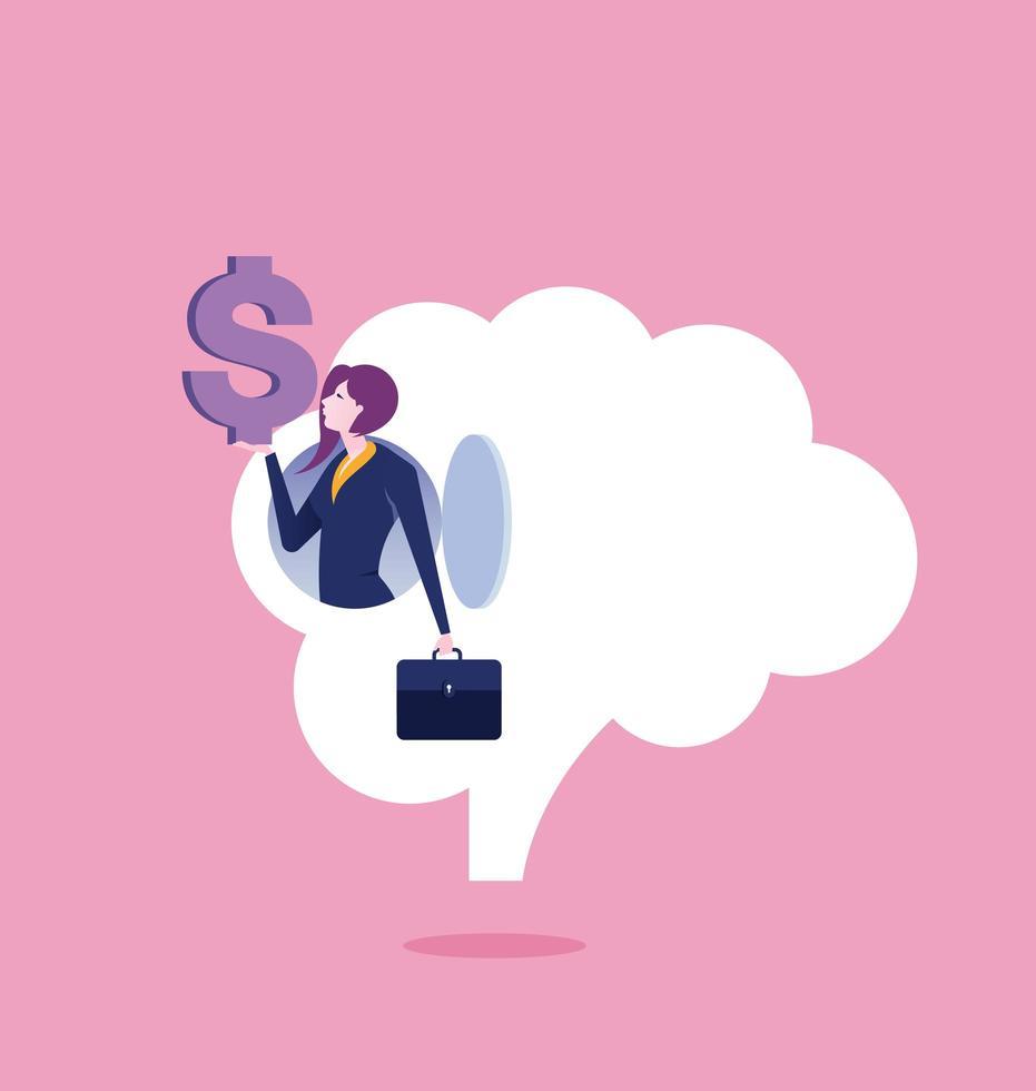 donna d'affari, fare soldi dall'idea vettore