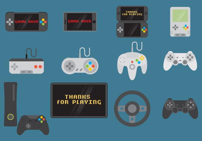 Controlli e dispositivi per videogiochi vettore