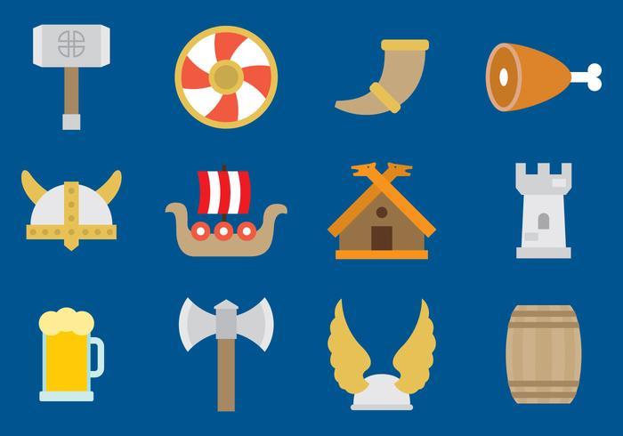 Icone di vettore di Viking