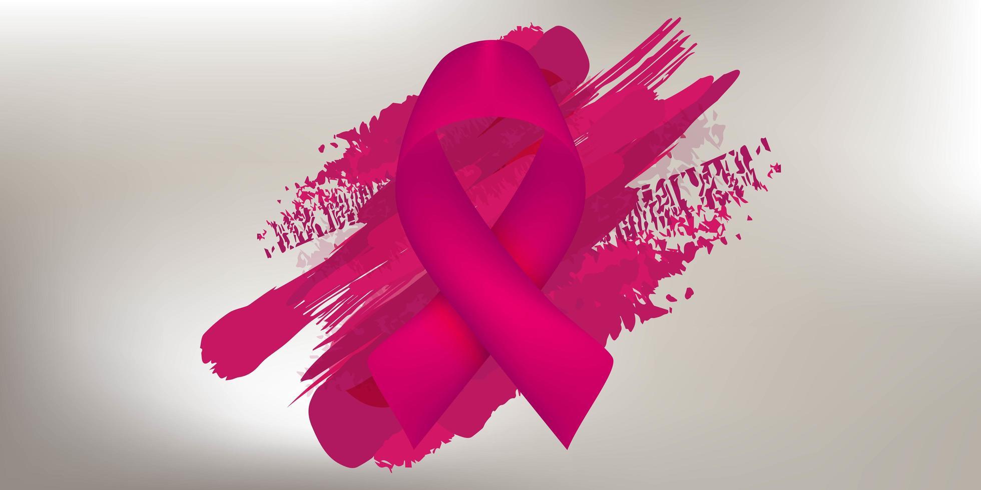 mese di consapevolezza del cancro al seno rosa ottobre vettore